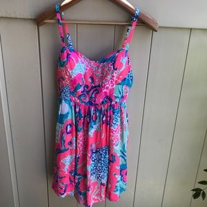 ff6723a42500 Lilly Pulitzer Dresses - Lily Pulitzer Christine Coral Reef Dress Size 4